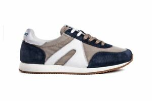 Super-Canvas-Beige-Blu-navy-Scarpa-Uomo-Atala-Sport-Made-in-Italy-Sneakers