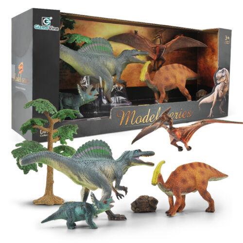 6 Dinosaurier Dino verschiedene Arten ca 25 cm groß Kindergeburtstag Geschenke