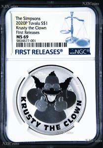 2020-Simpsons-Krusty-the-Clown-1-1oz-9999-Silver-COIN-NGC-MS69-FR-Simpson