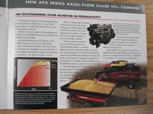 Case IH AFX-series combine original sales brochure #AE-542023