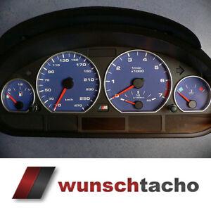 Tachoscheibe-fuer-Tacho-BMW-E46-Benziner-Alpin-Blau-270-kmh