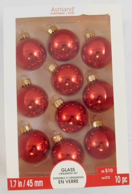 "Ashland Christmas Golden Brown Glass Glitter Ornament Set 8 Pc 2.6/""  New"