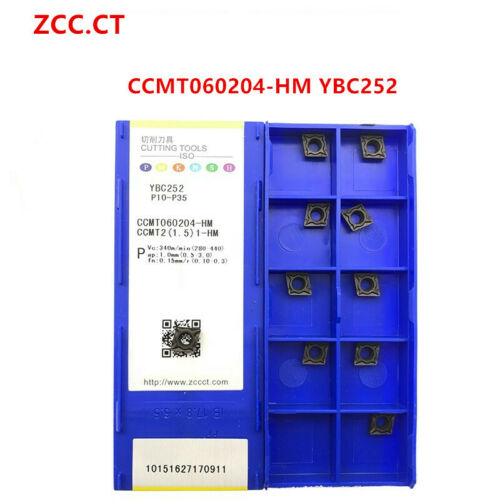 ZCC.CT 10P CCMT060204-HM YBC252 CNC Carbide Insert  Turning Insert for Steel