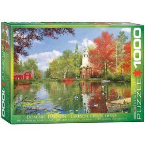 EG60000696 Eurographics Jigsaw Puzzle 1000 Piece Lakeside Reflection , Davison