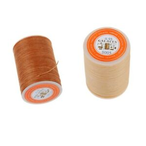2Pcs-Sewing-Polyester-Thread-Machine-Cord-String-Line-Light-Brown-and-Beige