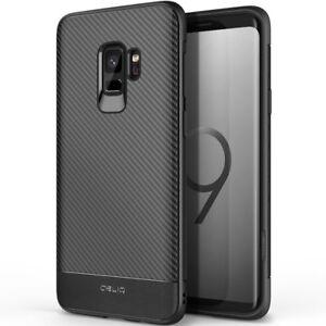 OBLIQ Flex Carbon Texture Slim Soft Protective Cover For Galaxy S9 S9+ Plus Case