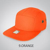 5 Panel Hat Cap Floral Leather Hip hop Snapback Skate Camp Army Blank Plain Brim