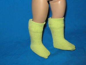 CHARTREUSE-KNEE-SOCKS-made-to-fit-10-034-ANN-ESTELLE
