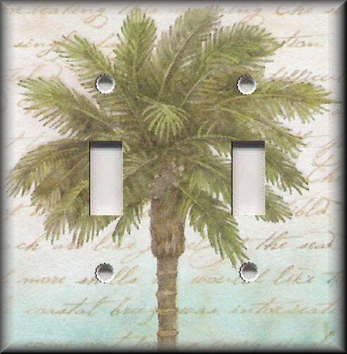 Metal Light Switch Plate Cover  Beach Palm Tree Decor Beach Coastal Decor