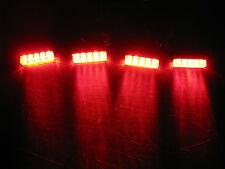 4 Universal RED LED Rear Brake Side Running Tail Light Motorcycle Street Bike !
