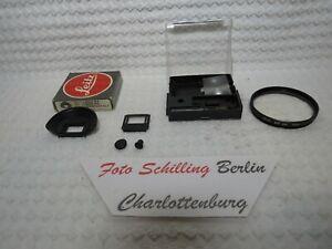 Leitz, Leica 14304 R4 Einstellscheibe, Leitz E55 UVa Filer, R4 Augenmuschel & Li