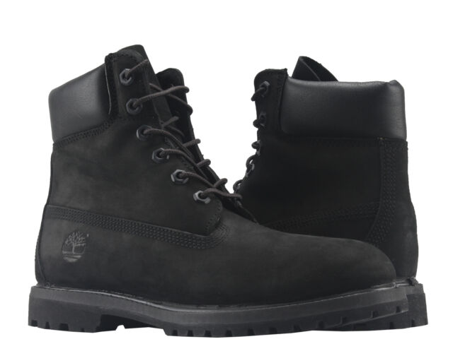 ccce49114d07 Timberland 6-Inch Premium Waterproof Black Nubuck Women s Boots 8658A
