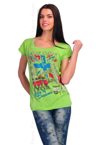 Casual T-Shirt London City Print 100/% Cotton Top Party Tunic Sizes 8-12 FB173