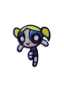 Powerpuff Girls Bubbles Cartoon Character Embroidered Iron On Patch