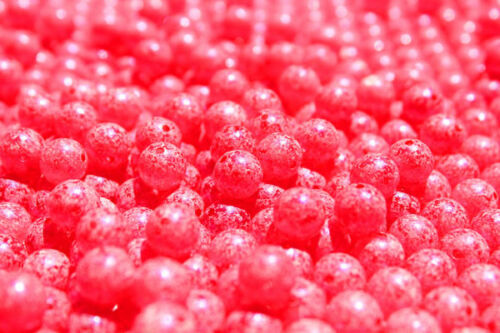 UV PEARLED SCRAMBLED BIG RED TRICK EM BEADS TROUT STEELHEAD U PK 6 8 10 or 12 mm