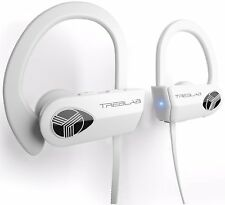 TREBLAB XR500 Wireless Bluetooth Headphones IPX7 Waterproof Sports Earbuds WHITE