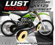 lust racing LR-LK-KAW-KX100-AY-50L Black Kawasaki KX100 Lowering Kit 50mm