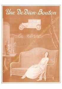 Sepia Postcard Ads Advertising Automobile de Dion Button Edit 3615 PUB12