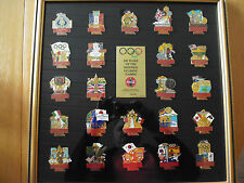 23 TOP COCA COLA PINS 100 YEARS OF THE MODERN OLYMPIC 1896 - 1996 IM RAHMEN