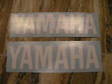 "#354 Pair 6"" Yamaha Logo Motorcycle Drum Snowmobile decal Gloss WHITE"