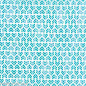 HUGABOO Deb Strain MODA Novelty Children Baby Baby Heart Aqua Fabric Fat Quarter