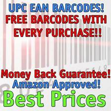 1,000 UPC Numbers Barcodes Bar Code Number 1000 EAN Amazon LIFETIME GUARANTEE!!!