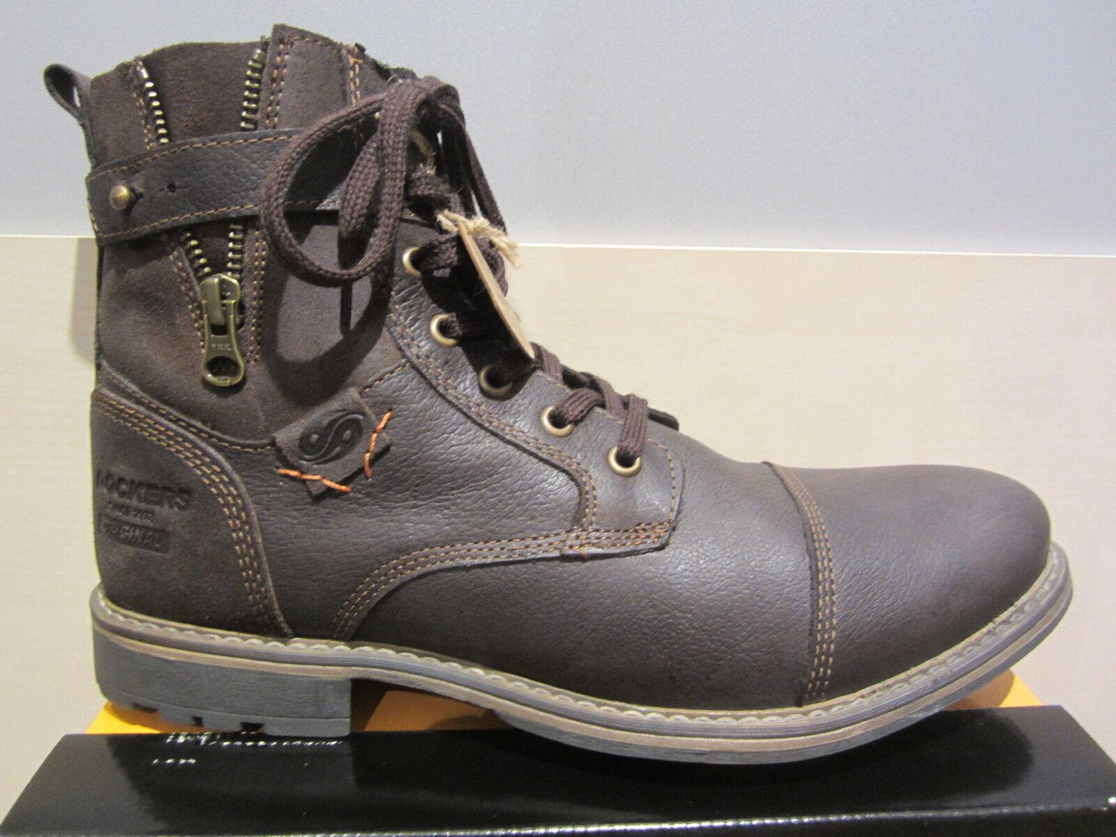 Dockers Stiefel, Reißverschluss, braun, Echtleder, Stofffutter, NEU