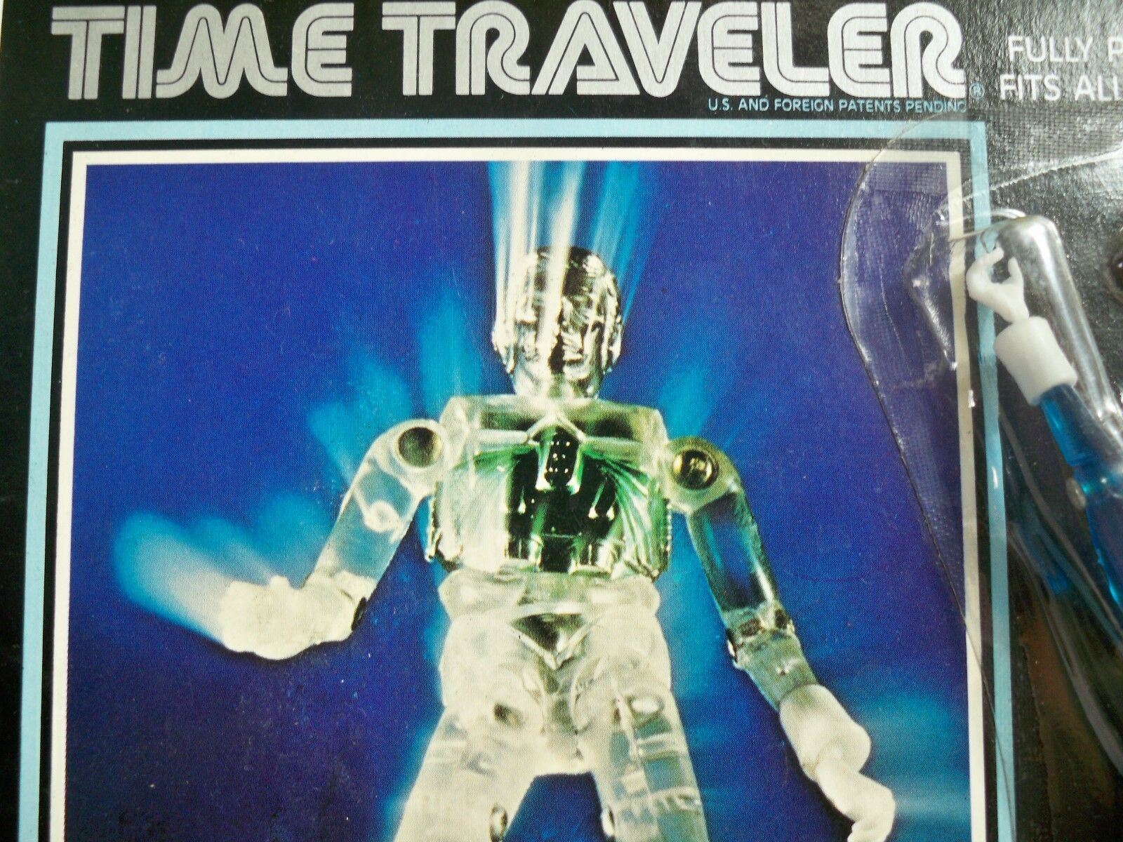 K1805851 TIME TRAVELER blueE MOC UNPUNCHED MINT ON CARD MICRONAUTS 1976 MEGO