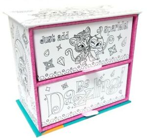 Nickelodeon Shimmer & Shine Colour in Jewellery Trinket Box 2 drawer