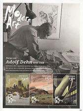 Grenada 2014 MNH Modern Art 3v M/S I Adolf Dehn Lithography Central Park Rigging