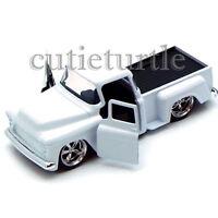 Jada Just Trucks 1955 Chevy Stepside Pickup Truck 1:32 Diecast Toy Car White