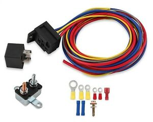 Mr-Gasket-40210G-Electric-fan-fuel-pump-Water-Pump-Harness-and-Relay-Wiring-Kit