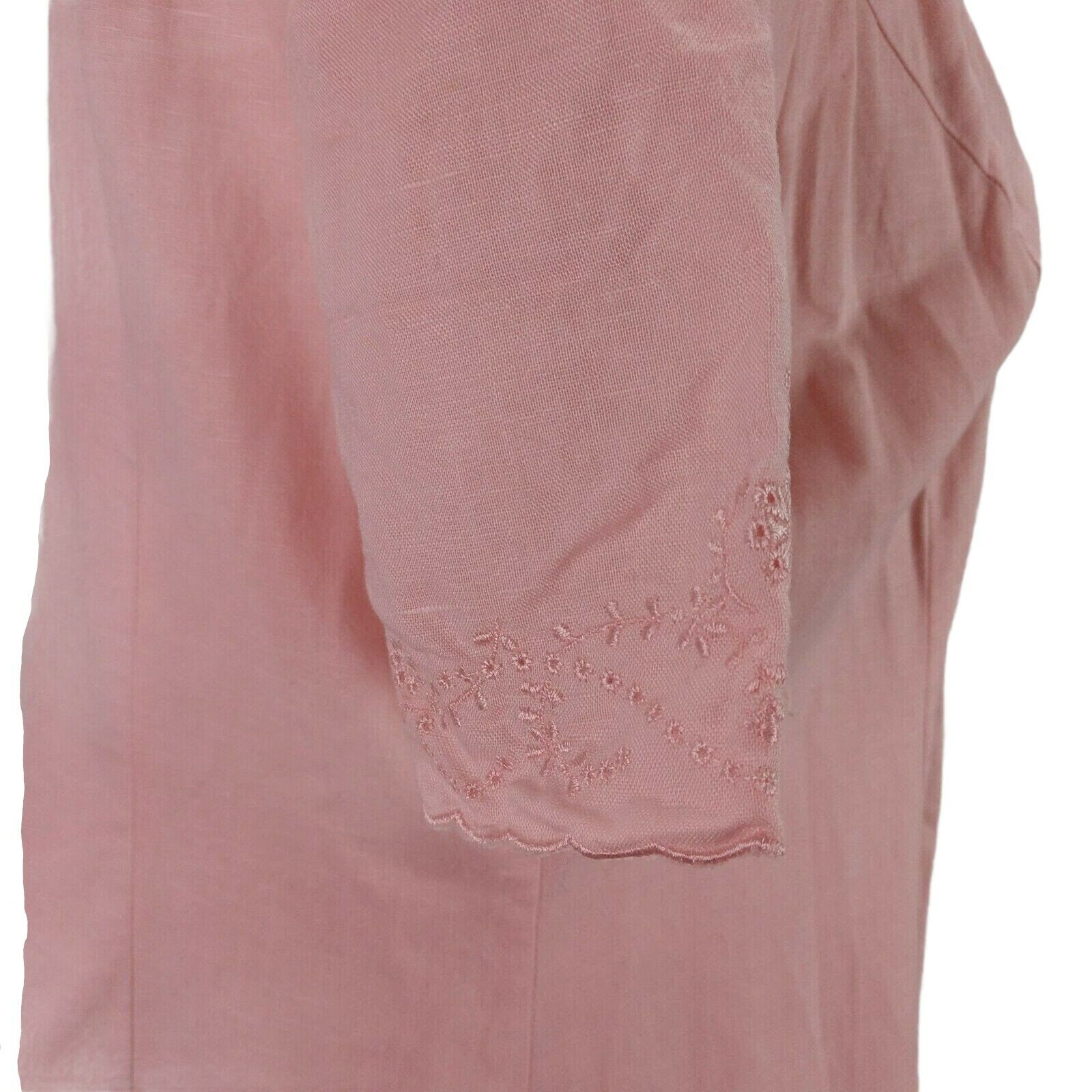 Vintage Laura Ashley Linen Eyelet Dress Size 14 P… - image 7