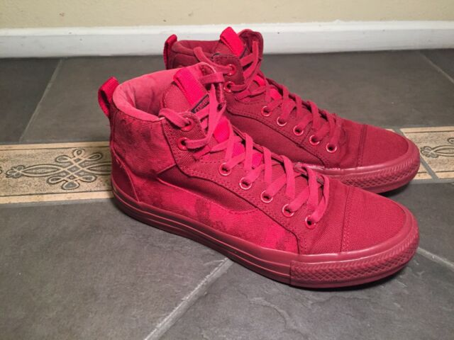 85e297dd0733 Converse All Star Chuck Taylor Asylum Red Chili Paste High Top Mens 8.5  WO s 10