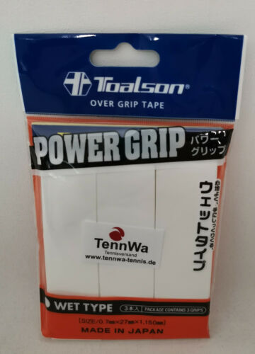 Griffband Toalson Power Grip weiß 3er Pack das Beste Overgrip bei uns*