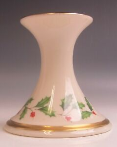 Lenox-China-HOLIDAY-DIMENSION-Flared-Candlesticks-EXCELLENT