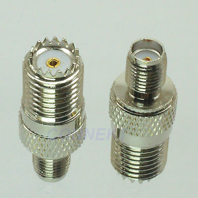 1pc mini UHF miniUHF female jack to SMA female jack RF coaxial adapter connector