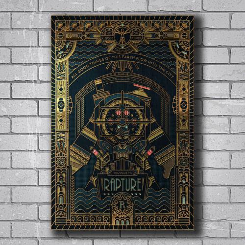 New Bioshock Rapture Video Game Cover Custom Poster Print Art Decor T-85