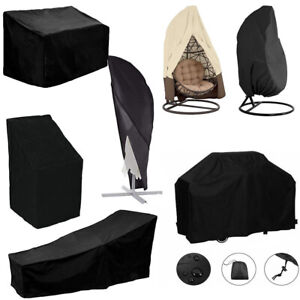 8 Types Waterproof Outdoor Patio Garden Furniture UV Rain Snow Cover Table Chair