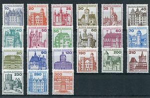 Bund-postfrisch-Burgen-und-Schloesser-BRD-BuS-komplett-995-999-913-920-1139-1143