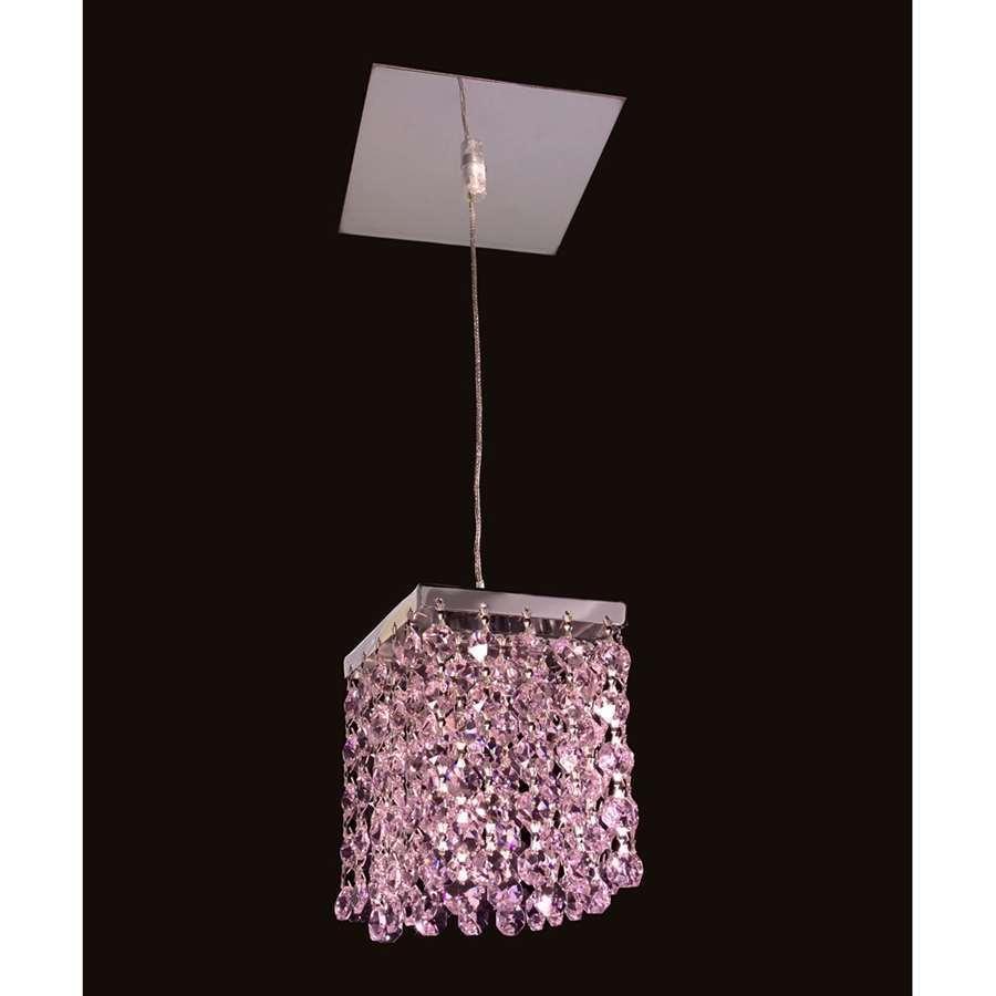 Classic Lighting Bedazzle Crystal Pendant, Chrome - 16101PNK