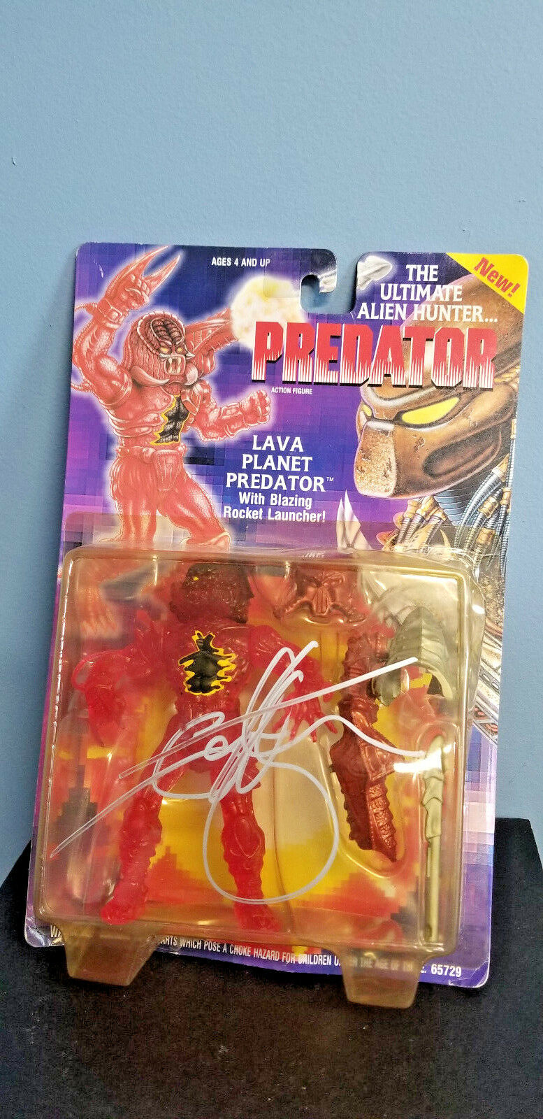 1994 Kenner PROTator LAVA PLANET PROTATOR Action Figure AUTOGRAPHED by IAN WHYTE