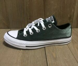 Details about Converse Chuck Taylor All Star Emerald Green Velour Sneakers Size 5 557994F NWOB