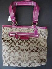 NWT Coach F14693 Penelope Signature Lunch Tote Handbag Purse Khaki/Berry New