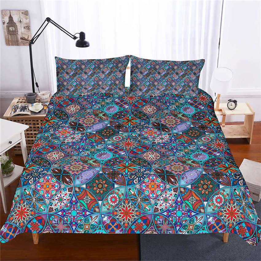A Circular Oval Segment 3D Digital Print Bedding Duvet Quilt Cover Pillowcase