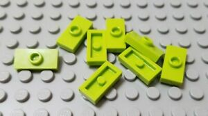 Lego 1x2 Plate Lime Green Lot of 20 New