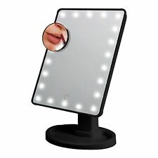Black 22 Led Light Illuminated Make Up Cosmetic Mirror With Small