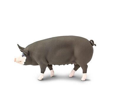 BERKSHIRE PIG Replica 161929 ~ NEW for 2017 ~ FREE SHIP//USA w// $25+SAFARI,Ltd.