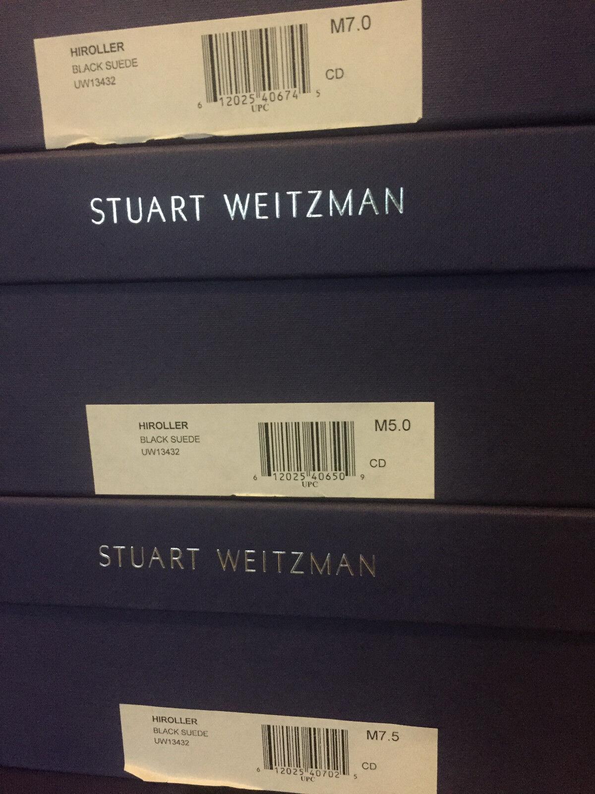 NIB Stuart Weitzman Weitzman Weitzman Hiroller Sandal schwarz suede 5 7 7.5 7fc63d