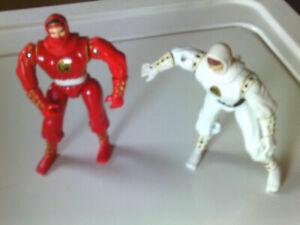 Mighty Morphin Power Rangers 1995 Bandai Ninja Action Rangers Red & White Ranger